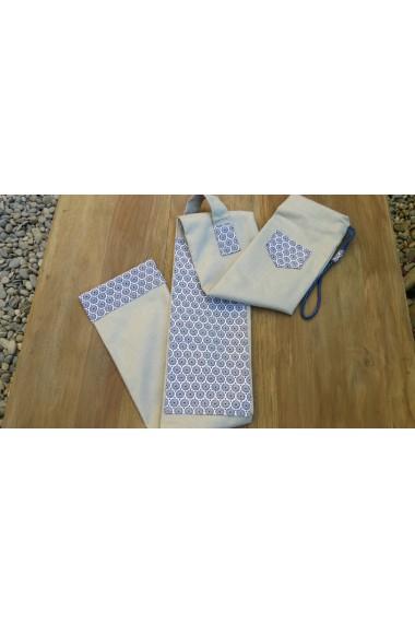 Modèle Cap Coz effet lin gris clair/housse artisanale avec poche et anse/pour jo ,bokken,tanto,iaito,et shinai