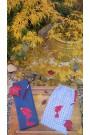 """Housse Enfant modèle """"poisson""""/suédine /housse artisanale pour jo ,bokken,tanto,iaito,et shinai"""