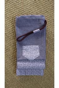 Housse artisanale avec poche ,pour jo ,bokken,tanto,et shinai/ Modèle Kerity /effet lin violet