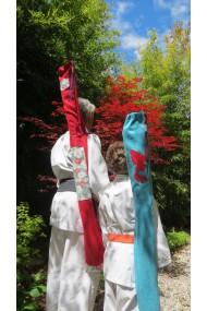 housse armes aikido / modèle Cap Coz /suédine rouge